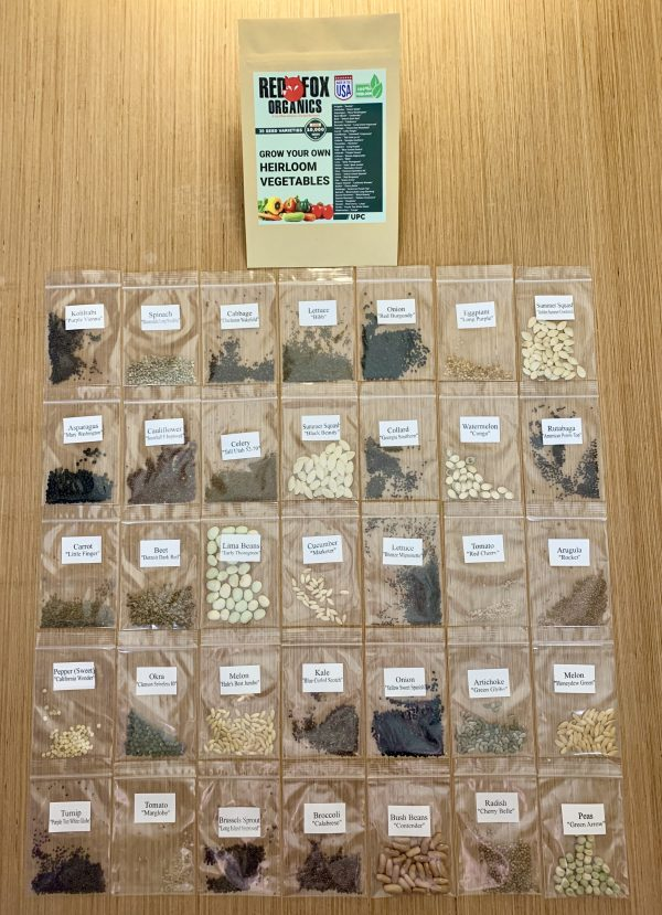 Shows how many seeds you get in a kit