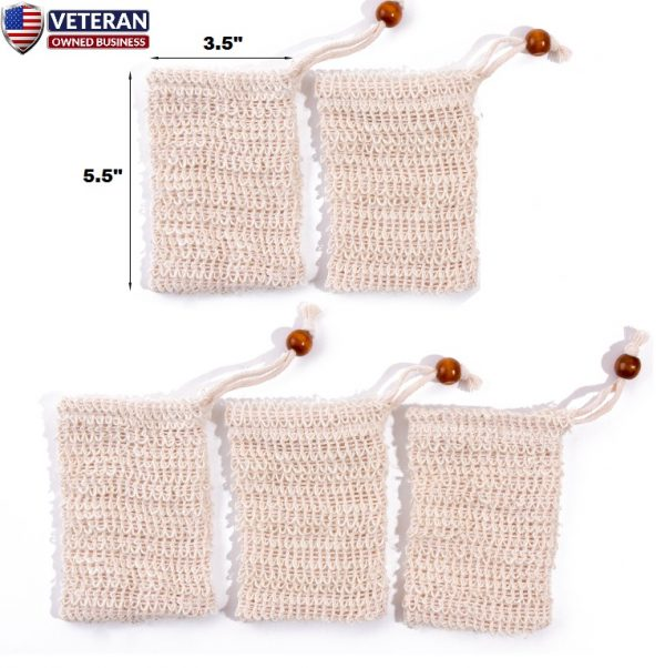 sisal soap bags 5 pack